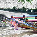 Rainbow Boats Thailand Photo Art by Karla Beatty