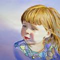 Rainbow Breeze Girl Portrait by Irina Sztukowski