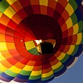Rainbow Checkered Balloon by Anthony Sacco