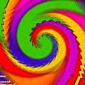 Rainbow Coloured Cock Swirl H A by Gert J Rheeders