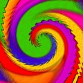 Rainbow Coloured Cock Swirl H B by Gert J Rheeders