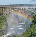 Rainbow Crossing Gorge Beneath Victoria Falls Bridge by Ndp