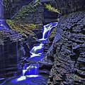 Rainbow Falls Watkins Glen State Park by Allen Beatty