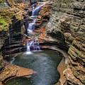 Rainbow Falls Watkins Glen State Park by Susan Candelario