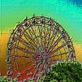 Rainbow Ferris Wheel by Tim Allen