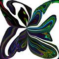 Rainbow Firefly Abstract by Debra Lynch