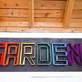 Rainbow Garden Sign Two by Sara Schroeder