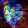 Rainbow Heart On A Wall by Linda Todd