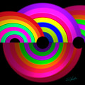 Rainbow In 3d by Charles Stuart