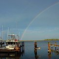 Rainbow In Apalachicola Fl by Susanne Van Hulst
