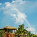 Rainbow Lifeguard Station Delray Beach Florida by Lawrence S Richardson Jr