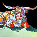 Rainbow Longhorn by Rae Andrews