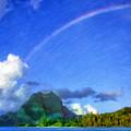 Rainbow Over Bora Bora by Dominic Piperata