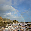 Rainbow Over Dunscombe Cliff by Pete Hemington