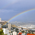 Rainbow Over Haifa, Israel  by Shay Levy