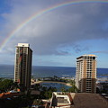 Rainbow Over Hilton by Ron Koivisto