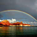 Rainbow Over Lake Powell by Mountain Dreams