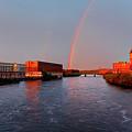 Rainbow Over Lawrence, Massachusetts by Denis Tangney Jr