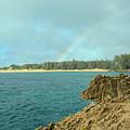 Rainbow Over Mahaulepu Beach by Bruce Gourley