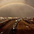 Rainbow Over Moose Jaw Saskatchewan by Mark Duffy