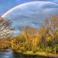 Rainbow Over The River by Debra and Dave Vanderlaan