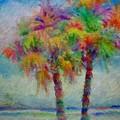 Rainbow Palm Scene by Pepsi Freund