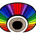 Rainbow Colors Eye by Delores Malcomson
