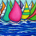 Rainbow Regatta by Lisa  Lorenz