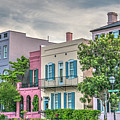 Rainbow Row In Historic Downtown Charleston South Carolina by Dale Powell