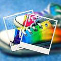 Rainbow Sneakers One by Mo Barton