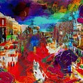 Rainbow Splattered Abstracts In Italy by Catherine Lott