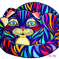 Rainbow Striped Cat by Nick Gustafson