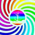 Rainbow Swirl Tree by Miroslav Nemecek
