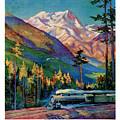 Rainier National Park Vintage Poster Restored by Carsten Reisinger