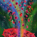 Raining Roses 2 by Carol Cavalaris