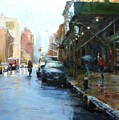 Rainy Afternoon On Amsterdam Avenue by Peter Salwen