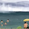 Rainy Beach by Arline Wagner