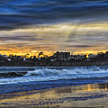 Rainy Beach by Mitch Shindelbower
