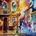 Rainy City by Leonid Afremov
