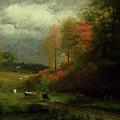 Rainy Day In Autumn by Albert Bierstadt