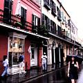 Rainy Day On Bourbon Street by Thomas R Fletcher