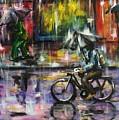 Rainy Day Original Painting by Natalja Picugina