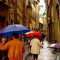 Rainy Day Shopping In Italy by Nancy Bradley