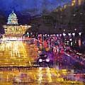 Rainy Evening On Pennsylvania Avenue by Heike Gramckow