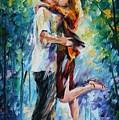 Rainy Kiss by Leonid Afremov