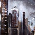 Rainy Night Downtown by Robert Gross