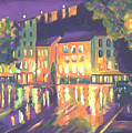 Rainy Night-old Quebec by Robert P Hedden