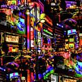 Rainy Tokyo On Acid by Ron Fleishman