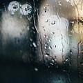 Rainy Window City Lights by Jasmin Awad