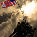 Raising The Flag At Iwo Jima 20130211 by Wingsdomain Art and Photography